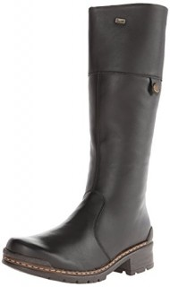 Rieker 74372 Sybille 72 Boot,Black Leather,38 EU (Women's 7-7.5 M US)