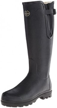 Le Chameau Women's Vierzon LD Fur Rubber Boot,Black,10 M US
