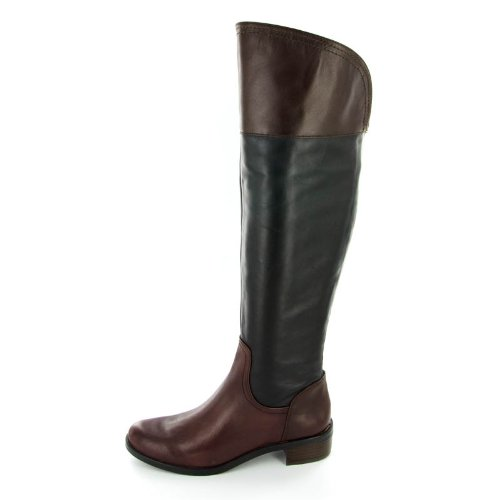 Vince Camuto Women's Vatero Riding Boot,Black/Chestnut,6.5 M US