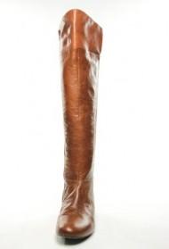 Nine West Women's Pattycake Knee-High Boot,Dark Natural Leather,6.5 M US