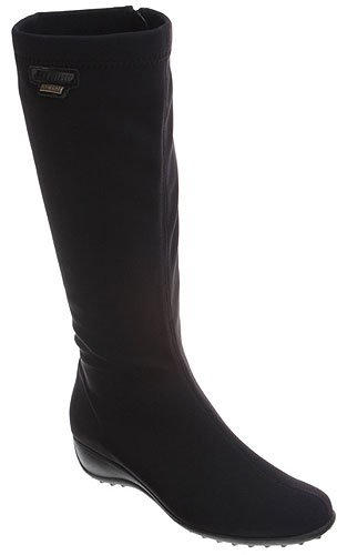Mephisto Women's Linda Boot,Black Stretch,7 M US