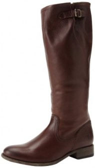 FRYE Women's Pippa Back Zip Tall Boot, Dark Brown, 6 M US