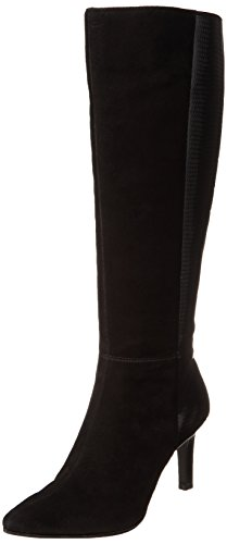 Bandolino Women's Ferver Suede Riding Boot,Black,10 M US