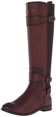 FRYE Women's Anna Gore Tall-BLFLE Riding Boot,  Chocolate, 9 M US
