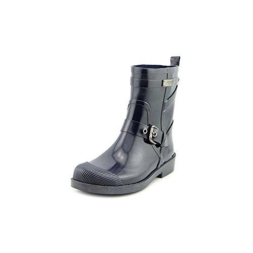 Coach Lester Shiny Rubber Womens Rain Boots Size US 10 Denim