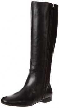 Nine West Women's Port Riding Boot,Black Leather,9 M US