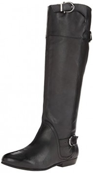 Naughty Monkey Women's Slick Nights Equestrian Boot,Black,9 M US