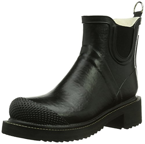 ILSE JACOBSEN Women's Rub 47 Rain Boot, Black, 35 EU/5 M US