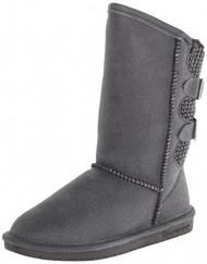 BEARPAW Women's Boshie Winter Boot, Black/Distressed, 11 M US