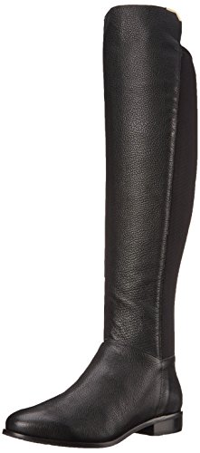 Cole Haan Women's Dutchess OTK Motorcycle Boot, Black Leather, 9 B US
