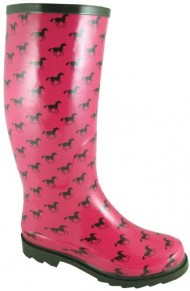 Smoky Mountain Ladies Ponies Rubber Boots 9 Pink