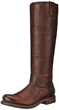 FRYE Women's Jenna Inside Zip Riding Boot,  Dark Brown, 6 M US