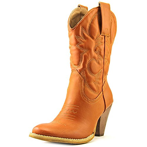 Spite Women's Saddleup Western Boot, Tan, 9.5 B US