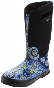 Bogs Women's Classic High Lanai Rain Boot,Blue,6 M US