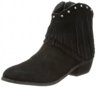 Minnetonka Women's Bandera Boot Black Suede Size 5