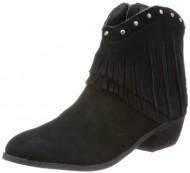 Minnetonka Women's Bandera Boot Black Suede Size 5