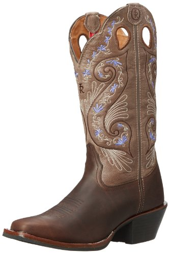 Tony Lama Women's Shiloh RR2016L Western Boot,Bridle Brown,5.5 B US
