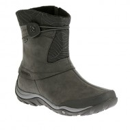 Merrell Women's Dewbrook Zip Waterproof Winter Boot, Grizzle Grey, 7 M US