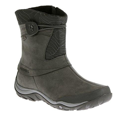 Merrell Women's Dewbrook Zip Waterproof Winter Boot, Grizzle Grey, 7 M US