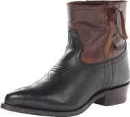 FRYE Women's Billy Cross Stitch Short Boot, Dark Brown, 10 M US