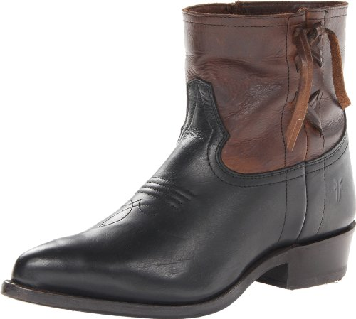 FRYE Women's Billy Cross Stitch Short Boot, Dark Brown, 10 M US