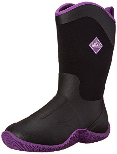 MuckBoots Women's Tack II Tall Equestrian Work Boot, Black/Purple, 11 M US