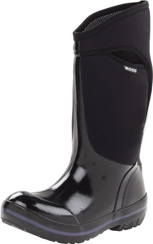 Bogs Women's Plimsoll Tall Waterproof Winter & Rain Boot,Black,10 M US