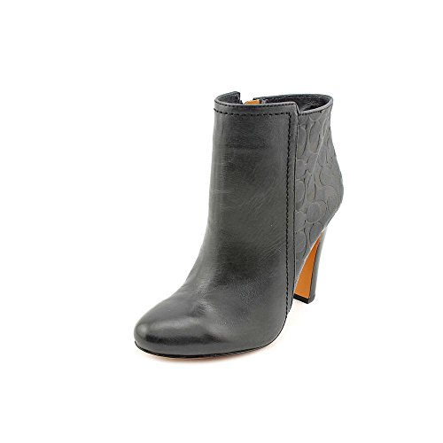 Coach Women's Hanni Leather Bootie (Black, 9.5)