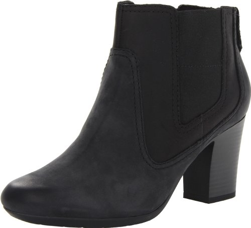 Clarks Women's Stroll Valley Black Boot 9 B – Medium