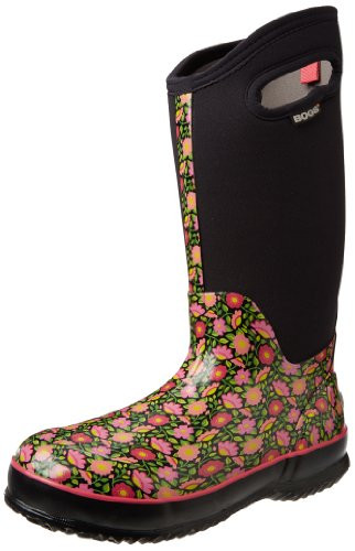 Bogs Women's Classic High Sweet Pea Boot,Pink,12 M US