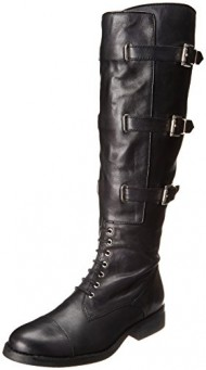 Vince Camuto Women's Fenton Riding Boot, Black, 9 M US
