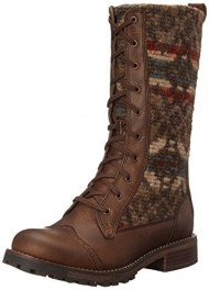 Woolrich Women's Santa FE Riding Boot, Chicory/Blanket Red Wool, 9.5 M US