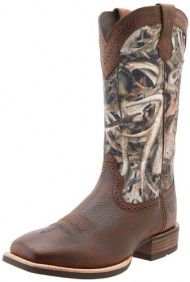 Ariat Men's Quickdraw Western Boot, Brown/Oiled Rowdy, 8.5 M US