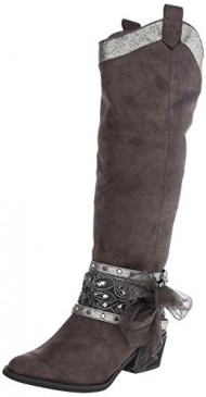 Not Rated Women's Midnight Dream Riding Boot,Grey,10 M US