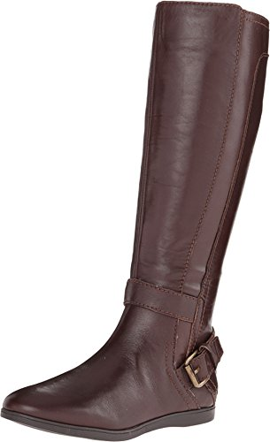 Nine West Women's Toxicatn Brown Leather Boot 10 M