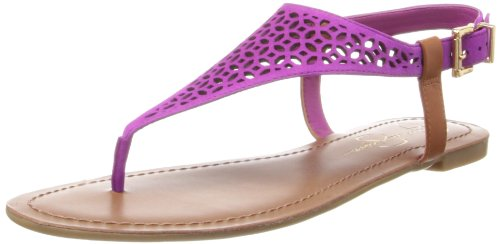 Jessica Simpson Women's Grile Dress Sandal,Twilight Magenta/Light Luggage,6 M US