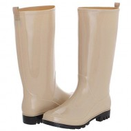 Capelli New York Ladies' Shiny Solid Opaque Rain Boot Nude 8