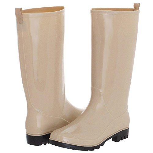 Capelli New York Ladies' Shiny Solid Opaque Rain Boot Nude 8