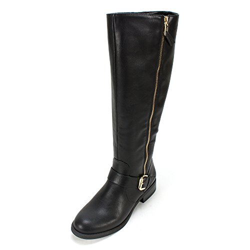 White Mountain Women's Lurch Riding Boot,Black,8.5 M US