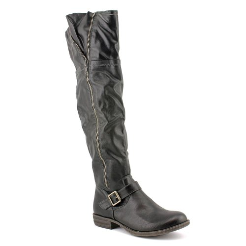 American Rag Women's Ikey2 Over The Knee Round Toe Boot in Black Size 7