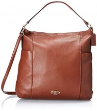 Coach Gallery Hobo Light Gold Saddle Leather 33436