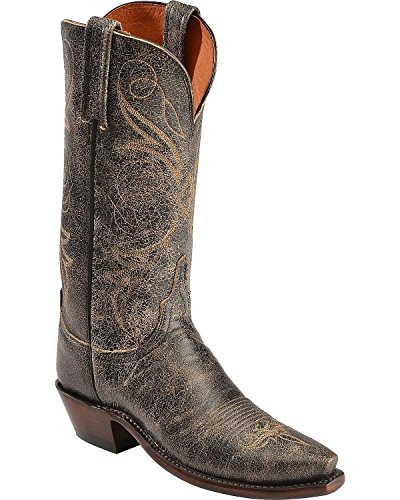 Lucchese Women's Handcrafted 1883 Aviator Cowgirl Boot Snip Toe Brown US