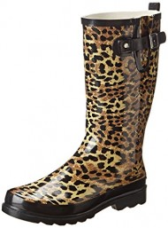 Western Chief Women's Leopard Exotic Rain Boot,Tan,6 M US