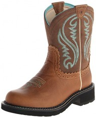 Ariat Women's Fatbaby Heritage Western Boot, Tan Rowdy/Tan, 6.5 M US