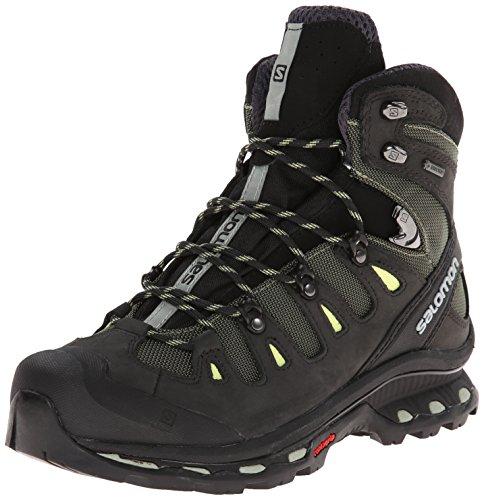 Salomon Women's Quest 4D 2 GTX Hiking Shoe, Sage Green/Asphalt/Flashy, 9.5 M US