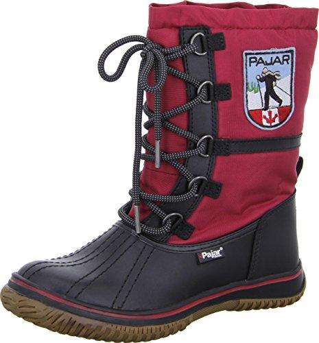 Pajar Women's Grip Low Boot,Black/Red,41 EU/10-10.5 M US