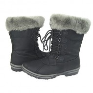 Women Winter Boots Comfy Moda Alpes Size 6-12 (12, Black)
