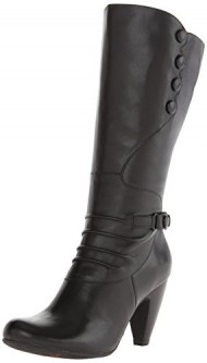 Miz Mooz Women's Sheila Extended Calf Riding Boot, Black, 7.5 M US