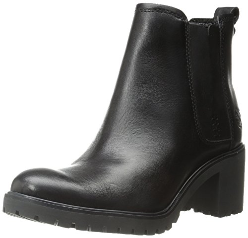 Timberland Women's Averly Chelsea Boot, Black Smooth, 11 M US