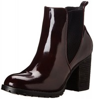 Steve Madden Women's Lyonn Boot, Burgundy, 7 M US